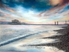 Sunset Over Brighton Beach