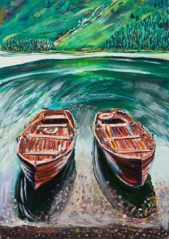 BUTTERMERE BOATS painting for sale
