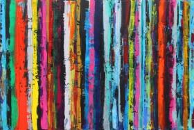 Unique abstract stripe art