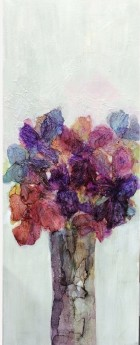 Orchids modern ink painting on canvas impressionist flora floral