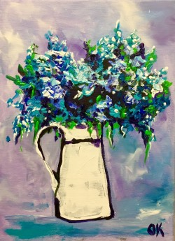 Wild Blue Flowers  #7