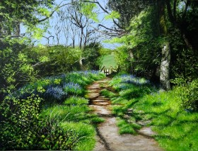 Painting of Bluebells