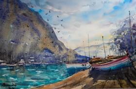 Original Watercolor India