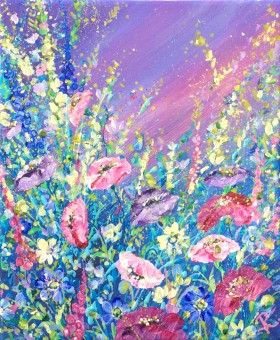 Lilac and Crimson Meadow