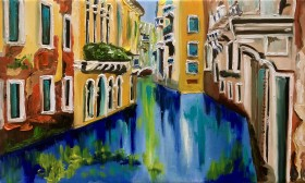 Venice, water, canal