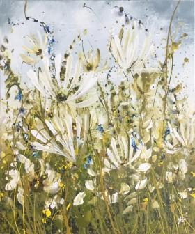 Pretty floral landscape painting
