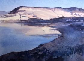 hills lake reflections