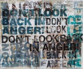 large modern typographic grafitti art painting
