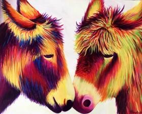 Rainbow Donkey Love