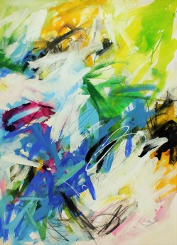 colourful multi coloured playful happy abstract painting expressive contemporary art
