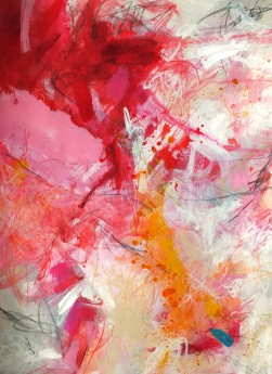 Gestural emotional dramatic abstract art