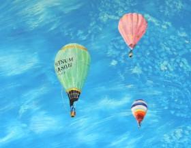'Good Morning F & M' Hot Air Balloons