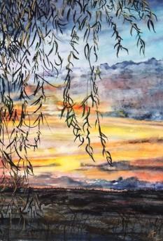 Late Autumn Sunset Fens
