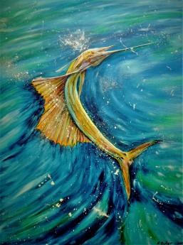 underwater paintingSealife Abstract