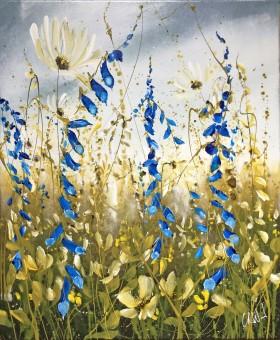 Flower meadow painting