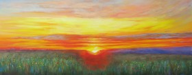 sunset painting in oils