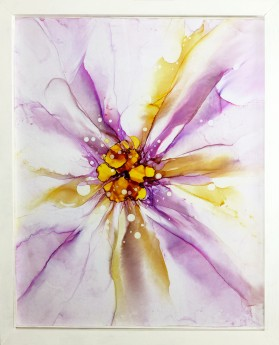floral abstract flower painting