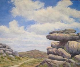 Great Mis tor from Pew tor Dartmoor