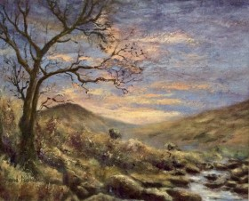 Tavy Cleave oil painting by David Mather