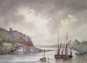 Break in the clouds watercolour by David Mather