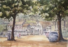 St Aubin Jersey watercolour by David Mather