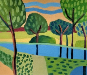 Trees by the River V