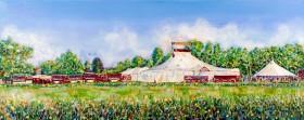 Giffords Circus at Frampton on Severn painting