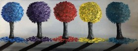 Glittering Colourful Trees