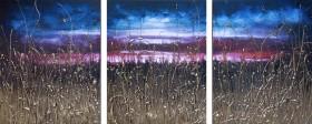 Golden Grass Triptych
