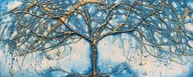 Teal blue art