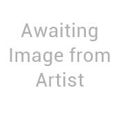 abstract seascape painting in blue and golds