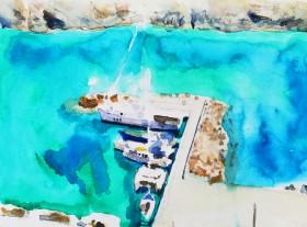 Harbour Astypalea Greece