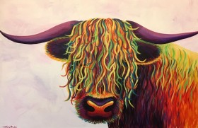 The Happy Highland Cow