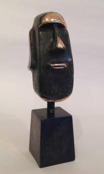 Moai head in bronze
