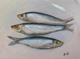 Fish on plate still life