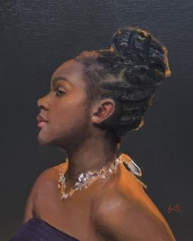 Modern original oil painting Black woman art