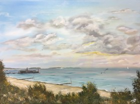 Bournemouth pier from the clifftop