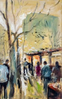 Early morning Paris market