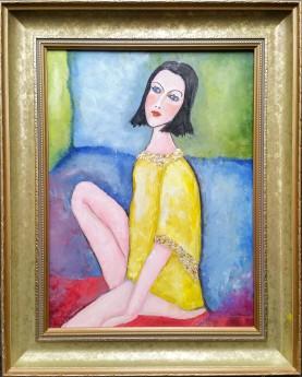Girl in Yellow tunic