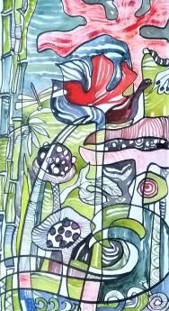 watercolour, flower, plant