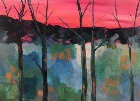 Five Bare Trees