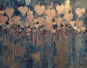 8 Silver Hearts