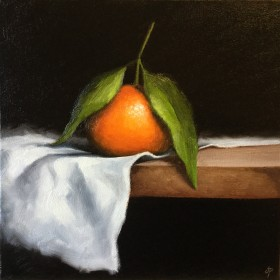 Clementine on cloth