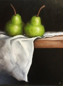 Pears on cloth
