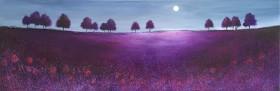 Purple moonlit treeline