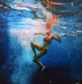 Inferno - swimming painting