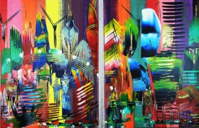 London City 2 piece Abstract 923