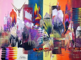 London Cityscape Abstract 649