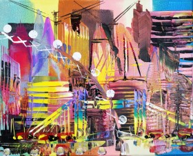 London Cityscape Abstract 704