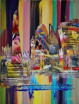 London Skyline Painting 0699
